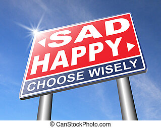 heureux, ou, triste