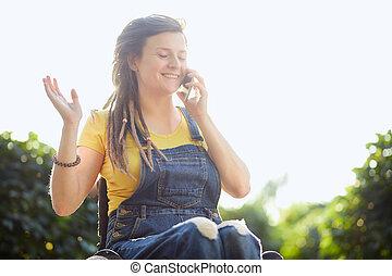 heureux, partage, bavarder, sexrets, amis, nouvelles, girl, apprécier, mieux, séduisant