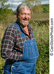 heureux, paysan