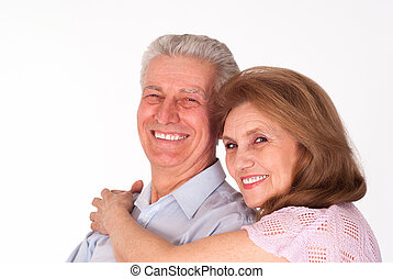 heureux, personnes âgées accouplent