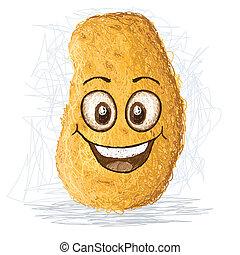 heureux, pomme terre