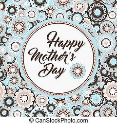 heureux, salutation, jour, carte, mères