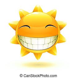 heureux, soleil, été