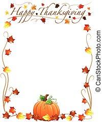heureux, thanksgiving, frontière