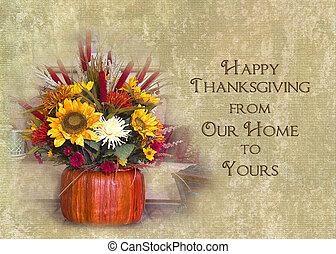 heureux, thanksgiving, notre, maison, à, ton