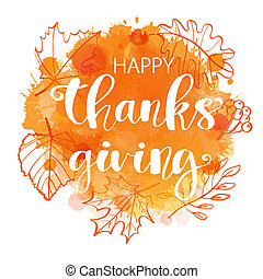 heureux, thanksgiving, poster.