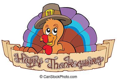 heureux, thanksgiving, thème, 1