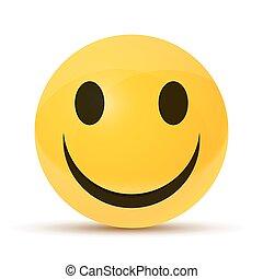 heureux, type caractère jaune