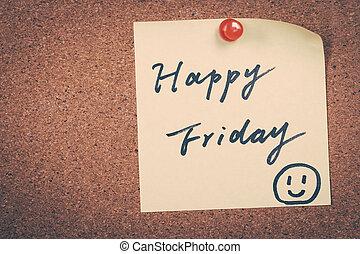 heureux, vendredi