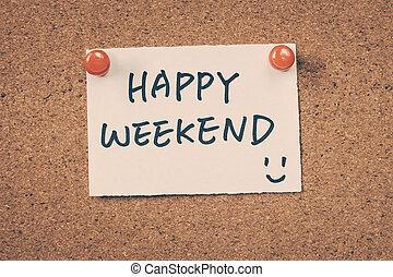 heureux, week-end