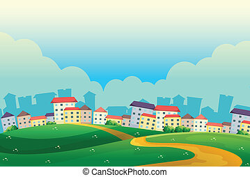 heuvels, dorp