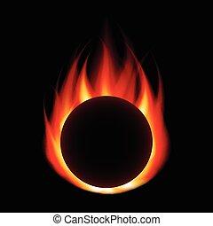 hevül labda, elszigetelt, képben látható, fekete, vektor