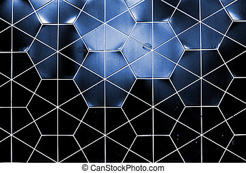 Hex ceramic wall