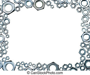 Hex nuts frame - Hex nuts picture frame