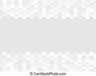 hexa, grigio, astratto, fondo
