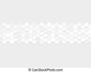 hexa, grigio, astratto, modello