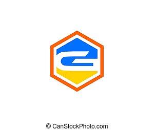 hexa, logotipo, g, lettera