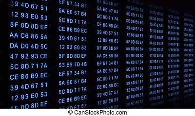hexadecimal code blue - motion graphic animation