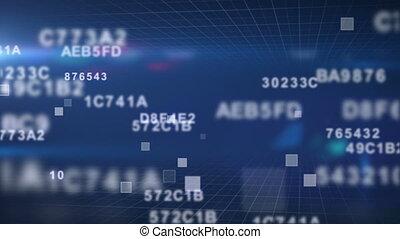 hexadecimal, dane, wstecz, loopable