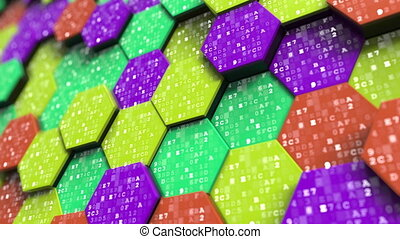 Hexadecimal symbols on abstract hexagons. Programming,...