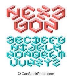 Hexagon alphabet