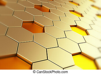 Hexagon background. Abstract background which can be used as...