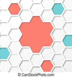 Hexagon background.