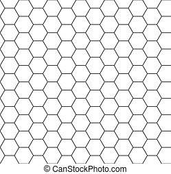 Hexagon background seamless comb