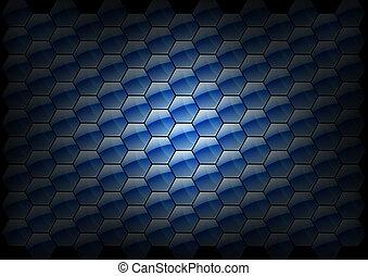 hexagon background texture - blue color