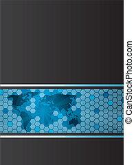 Hexagon brochure design