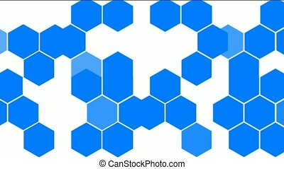 Hexagon chemical molecular.