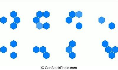 Hexagon chemical molecular.