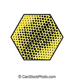 hexagon comic isolated icon