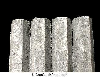 Hexagon concrete foundation piles