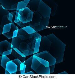 Hexagon Digital Technology Blue Background