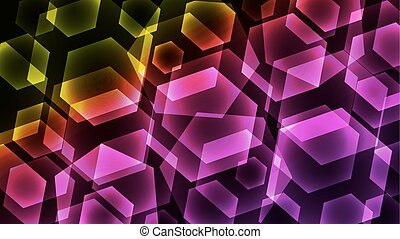 Hexagon Digital Technology Colorful Background