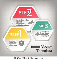 hexagon elements for infographic
