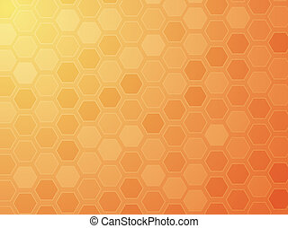 Abstract wallpaper illustration of geometric hexagon pattern