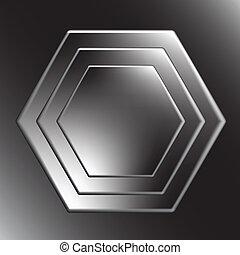 Hexagon metal background