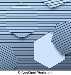Hexagon on line pattern abstract background