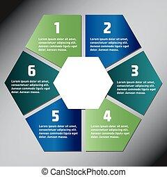 Hexagon presentation template
