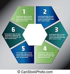 Hexagon presentation template