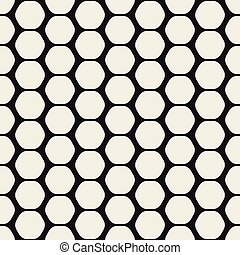 Hexagon seamles geometric pattern.