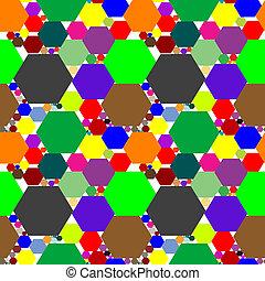 hexagon seamless pattern extended