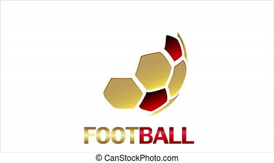 Hexagon soccer ball logo, art video illustration.