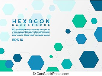 Hexagon style modern background geometric shape design with space for your text