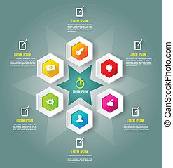 Hexagon template