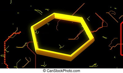 Hexagon Tunnel of Abstract Background