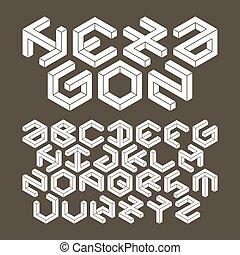 Hexagon typeface