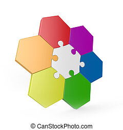 hexagonal 3d puzzle